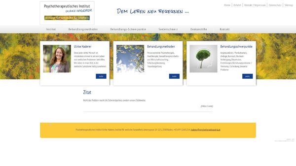 Screenshot der Webseite www.psychotherapieaustria.at