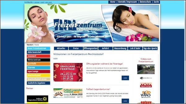 Screenshot der Webseite www.fzz-perchtoldsdorf.at