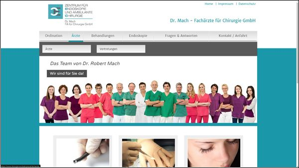 Screenshot der Webseite www.chirurgie-endoskopie.at